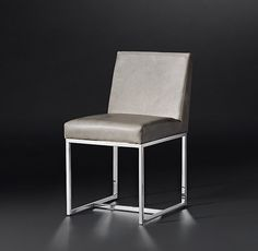 Emery Track Arm Leather Side Chair