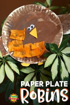 Paper Plate Robin Craft : This adorable robin craft is easy to make and perfect for toddlers and preschoolers who are learning about American Robins. Winter Crafts For Kids, Crafts For Teens, Art For Kids, Kids Fun, Toddler Preschool, Toddler Crafts, Toddler Activities, Daycare Crafts, Preschool Crafts