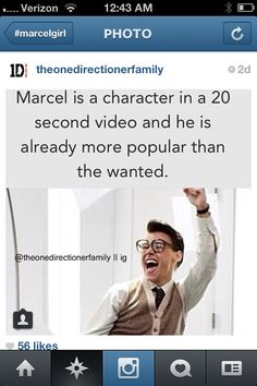 I usually don't like putting up more popular than the wanted stuff, but I'm making an exception for Marcel! ;)