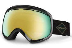 VonZipper - Skylab Black BKD Goggles, Gold Chrome Lenses
