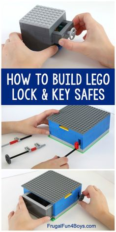 How to Build LEGO Safes with Lock & Key – Fun LEGO machine for kids to build! Th… How to Build LEGO Safes with Lock & Key – Fun LEGO machine for kids to build! The key really works to open the safe. Lego Club, Lego Design, Lego Hacks, Lego Candy, Lego Machines, Lego Challenge, Lego Activities, Lego Craft, Lego For Kids