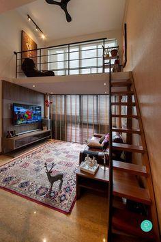 Small House Interior Design, Home Design Decor, Home Room Design, Tiny House Design, Design Ideas, Home Decor, Small Apartments, Small Spaces, Teenage Room Decor