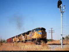 This train was stopped on the siding just east of Parma for two west bound freights. Once the main cleared, the train then proceeded to Nampa where the third unit was removed per typical operating procedure. The train then proceeded east with the two lead units. Photographed on the Union Pacific Huntington Sub. Photograph by Floyd Gordon. 10-11-12