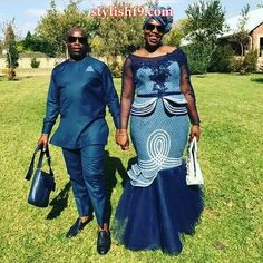 beautiful bride in shweshwe 2017 2018 - style you 7 African Bridesmaid Dresses, African Wedding Attire, African Maxi Dresses, Latest African Fashion Dresses, African Attire, South African Traditional Dresses, Traditional Wedding Dresses, Seshweshwe Dresses, Beautiful Outfits