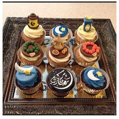 Ramadan n eid Cupcakes. Eid Cupcakes, Eid Cake, Cupcake Cakes, Decorated Cupcakes, Iftar Party, Eid Party, Ramadan Desserts, Ramadan Recipes, Eid Recipes