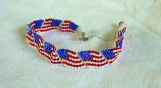 Waving Flag Bracelet by NamaAndMoms on Etsy, $25.00