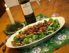 eat this Weihnachtsmenü Vorspeise: Feldsalat mit Cranberry-Vinaigrette - eat this!