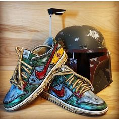 May the 4th be with you! Custom painted Boba Fett Nike Air Force 1's done by @rickymerino7 #bobafett #yoda #luke #darthvader #vader #maythe4th #may4th #georgelucas #lucasfilm#disneyplus #disney #themandalorion #mandalorian #nerds #nerd #fashion #princessleia #leia #starwarsday #starwars visit www customizerdepot.com for more videos, tutorials and DIY projects you can do at home!