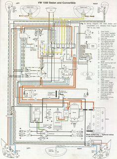 Wiring Diagram Vw Beetle Sedan And Convertible 1961 1965 Vw - Wiring Diagram