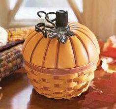 Longaberger 2012 Collectors Club Pumpkin Basket Set. A beautiful tribute to fall.