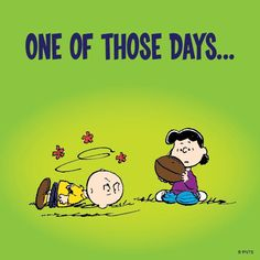 One of those days. Charlie Brown Quotes, Charlie Brown Characters, Charlie Brown And Snoopy, Peanuts Cartoon, Peanuts Snoopy, Garfield Cartoon, Peanuts Comics, Snoopy Love, Snoopy And Woodstock