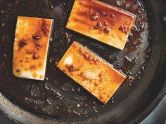Tofu spicy com mel e gengibre