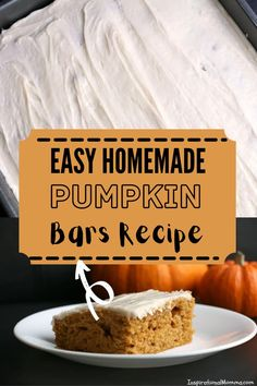 Easy & Delicious Pumpkin Bars are moist and covered in cream cheese frosting. They are perfect anytime of the year! #pumpkinbars #frostedpumpkinbars Pumpkin Bars, Best Pumpkin, Pumpkin Dessert, Pumpkin Bread, 7 Up Cake, Incredible Recipes, Holiday Recipes, Party Recipes, Pinterest Recipes