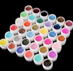Kit com 36 Gel Uv para unhas da marca Ezflow, serão enviados modelos aleatórios (não é possível escolher a cor). Pode ser usado para formação de unhas gel, acrigel, unhas de fibras ou para coloração. É possível aplicar mesmo se não tiv...