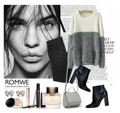 """""""Romwe Sweater"""" by diva1 ❤ liked on Polyvore featuring Givenchy, Gianvito Rossi, Marc Jacobs, By Terry, Burberry, Laura Mercier, M&Co, contest, Sweater and romwe"""
