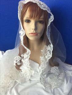 One of my new veils. Where I grew up in Arizona, we called these Mantilla's.