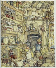 Brambly Hedge - another favourite and so very cute:) Find my copy this Beatrix Potter print Beatrix Potter, Susan Wheeler, Brambly Hedge, Historia Natural, Art Graphique, Children's Book Illustration, Book Illustrations, Hedges, Childrens Books
