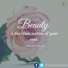 Beauty is the illumination of your soul.  -- John O'Donohue  For more natural beauty tips visit http://ift.tt/1Yne0k2
