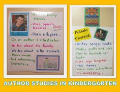 Author Study ideas for display