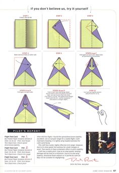 paper airplanes instructions for the world best airplane