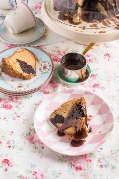 Bundt cake marmolado al caramelo
