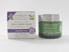 Andalou Naturals Resveratrol Q10 Age Defying Night Repair Cream 50 ml (1.7 oz) #AndalouNaturals