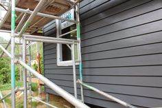 ideas exterior cladding weatherboard paint colours for 2019 Exterior Paint Combinations, Exterior Color Schemes, Exterior Paint Colors For House, Paint Colors For Home, Paint Colours, Colour Schemes, Color Combinations, Weatherboard Exterior, Grey Exterior