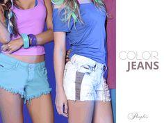 Shorts Jeans coloridos para dar mais cor no look e no seu dia!