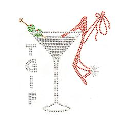 tgif thank god it's friday quotes and pictures | TGIF (THANK GOD IT'S FRIDAY), MARTINI, HIGH-HEEL SHOE- CLEAR, SIAM ...
