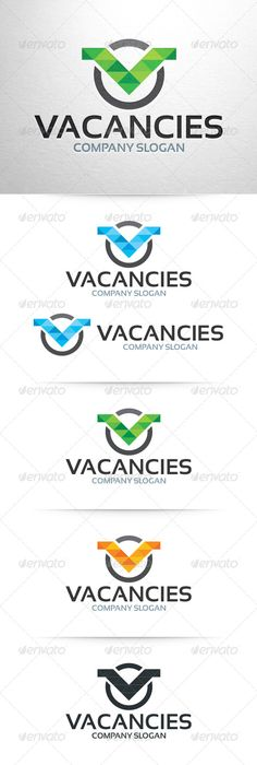 Vacancies - Letter V Logo Template (Letters)