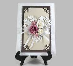 Card is 5 by 7 inches Envelope is included  Wedding day card for invitations or bridal shower