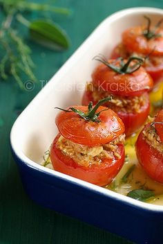 Mediterranean Filled Tomatoes