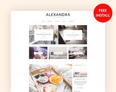 Minimal and Modern WordPress Blog Theme - Alexandra a Responsive Wordpress Theme - One Click Demo Import