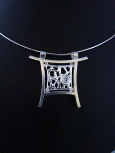 silver and art clay silver with cubic zirconia LOVE IT!!!