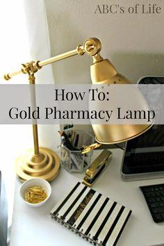 Inexpensive DIY Gold Pharmacy Lamp