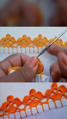 Crochet Edging Patterns, Crochet Lace Edging, Crochet Shawl, Crochet Designs, Crochet Flowers, Crochet Beanie, Crochet Doilies, Crochet Stitches For Beginners, Crochet Videos