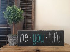 """Lovely Handmade """"be you tiful""""  pallet sign by Cynthiaswoodensigns on Etsy https://www.etsy.com/listing/244121809/lovely-handmade-be-you-tiful-pallet-sign"""