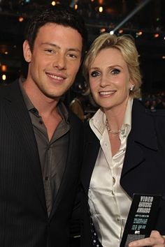Cory Monteith y Jane Lynch