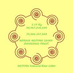 Numbers to restore natural hair colour from Lloyd Healing Codes, Switch Words, Magic Circle, Magic Words, Book Of Shadows, Dark Circles, Restoration, Natural Hair Styles, Hair Color