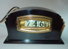 Pennwood Bakelite Flip Clock Numechron Mid Century Works Nice Art Deco Electric | eBay