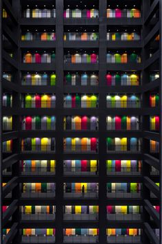 """Colorful office block on Odaiba island in Tokyo, Japan. photo by Conor MacNeill"" Minimal Photography, Canon Photography, Urban Photography, Office Block, Kindergarten Design, Odaiba, Photo Today, Forever, Diy Wood Projects"