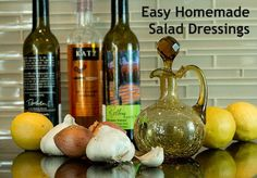 Homemade Salad Dressing: 10 Easy Recipes from Aviva Goldfarb, The Six O'Clock Scramble Sugar Free Recipes, Easy Recipes, Salad Dressing Recipes, Salad Dressings, Salad Recipes, Clean Eating Recipes, Cooking Recipes, Healthy Eating, Homemade Dressing