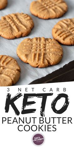 keto cookies Low Carb Peanut Butter Cookies so delicious nobody will ever know these cookies are in fact low carb! A healthy delicious treat for when a cookie just hits the spot. These flourless low carb cookies are the solution! Low Carb Peanut Butter Cookie Recipe, Low Carb Cookies, Cookie Recipes, Keto Recipes, Dessert Recipes, Peanut Recipes, Low Carb Peanutbutter Cookies, Keto Butter Cookies, Healthy Fudge