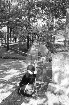 This is a film double exposure of my son and a Civil War reenactor at a Civil War Graveyard in Resaca Ga.
