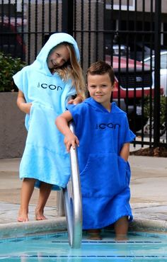 Kids Towel Robe Unisex, Cotton, Microfiber, Ages 4 To 9 Years Old