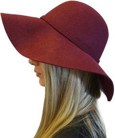 2afa1fe9e93 Womens Elegant Luxury 100% Wool Floppy Fedora Hat with Bow