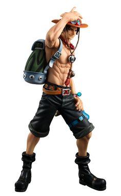 Estatua Portgas D. Ace 23 cm. Excellent Model NEO-DX. One Piece. Megahouse Preciosa y conseguida estatua de Portgas D. Ace de 23 cm de altura, fabricada en PVC de la línea Portarit of Pirates- Excellent Model NEO-DX, 100% oficial y licenciada.