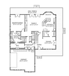 First Floor image of Featured House Plan: PBH - 9637