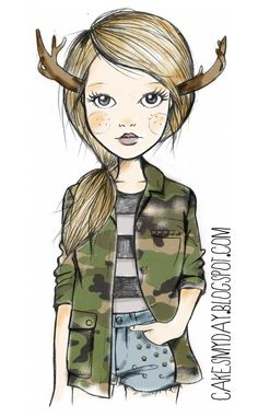 Adorable illustration from the blog of one of my very talented & previous designers & cupcake artist, Nathalie