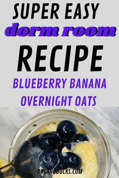 Easy overnight oats that are perfect for busy college students on the go. This healthy recipe can be made in your dorm room and can be eaten for breakfast or aa a healthy dorm room snack for later. #overnightoats #vegan #healthysnacks #healthybreakfast #healthysnacks Healthy College Snacks, Easy College Meals, College Food Hacks, Easy Healthy Recipes, Healthy Cooking, Dorm Food, Banana Overnight Oats, Freshman Year, College Students
